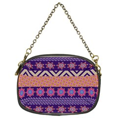 Colorful Winter Pattern Chain Purses (one Side)  by DanaeStudio