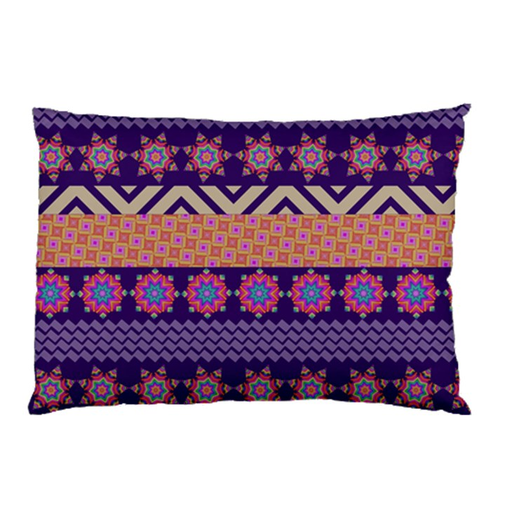 Colorful Winter Pattern Pillow Case
