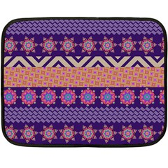 Colorful Winter Pattern Fleece Blanket (mini) by DanaeStudio