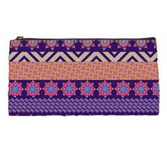 Colorful Winter Pattern Pencil Cases by DanaeStudio