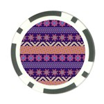Colorful Winter Pattern Poker Chip Card Guards (10 pack)  Back
