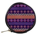 Colorful Winter Pattern Mini Makeup Bags Back