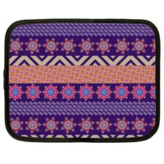 Colorful Winter Pattern Netbook Case (xxl)  by DanaeStudio