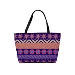 Colorful Winter Pattern Shoulder Handbags Back