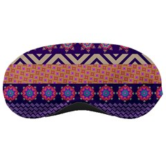 Colorful Winter Pattern Sleeping Masks by DanaeStudio