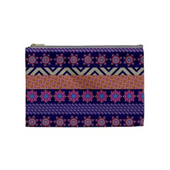 Colorful Winter Pattern Cosmetic Bag (medium)  by DanaeStudio