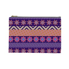Colorful Winter Pattern Cosmetic Bag (large)  by DanaeStudio