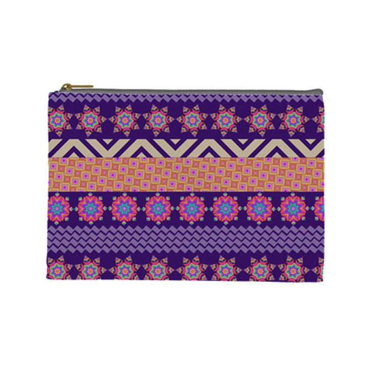 Colorful Winter Pattern Cosmetic Bag (Large)