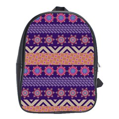 Colorful Winter Pattern School Bags(large)  by DanaeStudio