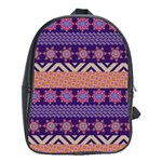 Colorful Winter Pattern School Bags(Large)  Front