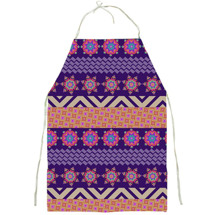 Colorful Winter Pattern Full Print Aprons