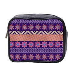 Colorful Winter Pattern Mini Toiletries Bag 2 Side
