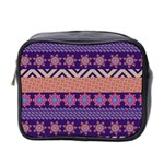 Colorful Winter Pattern Mini Toiletries Bag 2-Side Front