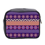 Colorful Winter Pattern Mini Toiletries Bag 2-Side Back