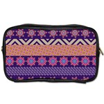 Colorful Winter Pattern Toiletries Bags Front