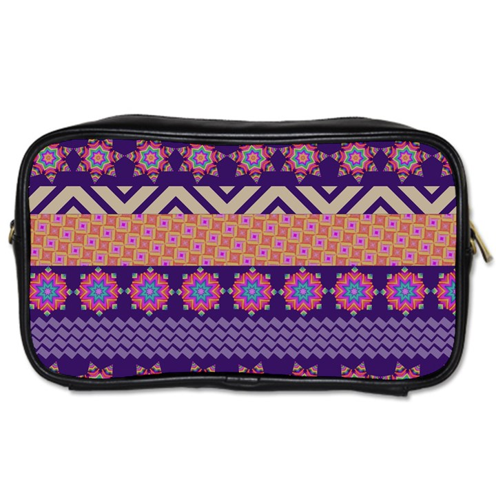 Colorful Winter Pattern Toiletries Bags