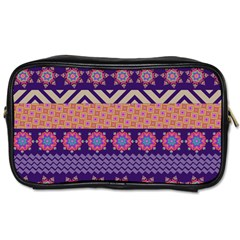 Colorful Winter Pattern Toiletries Bags 2 Side