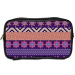 Colorful Winter Pattern Toiletries Bags 2-Side Back