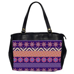 Colorful Winter Pattern Office Handbags (2 Sides)  by DanaeStudio