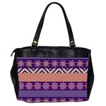 Colorful Winter Pattern Office Handbags (2 Sides)  Back