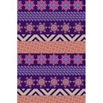Colorful Winter Pattern 5.5  x 8.5  Notebooks Back Cover Inside