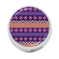 Colorful Winter Pattern 4 Port Usb Hub (two Sides)  by DanaeStudio