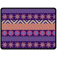 Colorful Winter Pattern Fleece Blanket (large)  by DanaeStudio