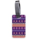 Colorful Winter Pattern Luggage Tags (One Side)  Front