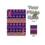 Colorful Winter Pattern Playing Cards 54 (Mini)  Front - Heart4