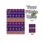 Colorful Winter Pattern Playing Cards 54 (Mini)  Front - Club4
