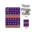 Colorful Winter Pattern Playing Cards 54 (Mini)  Front - Club10