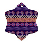Colorful Winter Pattern Ornament (Snowflake)  Front