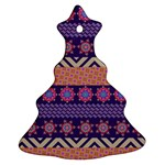 Colorful Winter Pattern Ornament (Christmas Tree) Front
