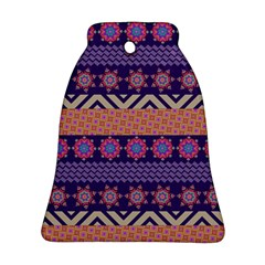 Colorful Winter Pattern Ornament (bell)