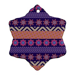 Colorful Winter Pattern Snowflake Ornament (2 Side)