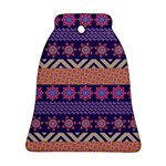 Colorful Winter Pattern Bell Ornament (2 Sides) Back