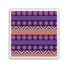 Colorful Winter Pattern Memory Card Reader (square)  by DanaeStudio