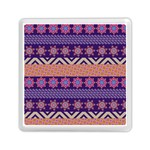 Colorful Winter Pattern Memory Card Reader (Square)  Front