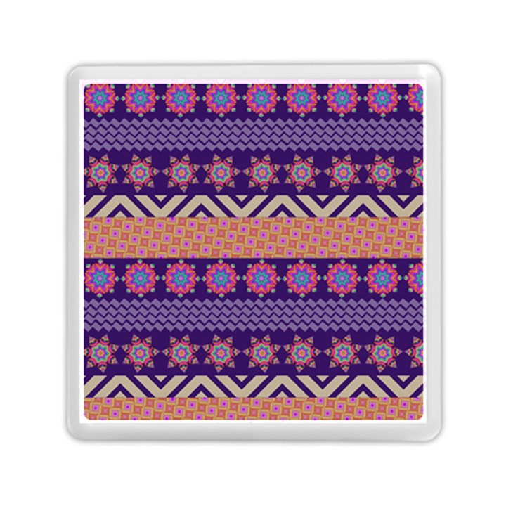 Colorful Winter Pattern Memory Card Reader (Square)
