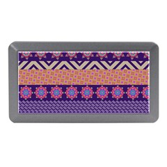 Colorful Winter Pattern Memory Card Reader (mini) by DanaeStudio