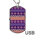 Colorful Winter Pattern Dog Tag USB Flash (Two Sides)  Front