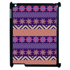 Colorful Winter Pattern Apple Ipad 2 Case (black) by DanaeStudio