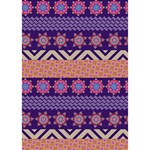 Colorful Winter Pattern WORK HARD 3D Greeting Card (7x5) Inside