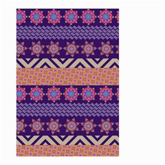 Colorful Winter Pattern Small Garden Flag (two Sides)