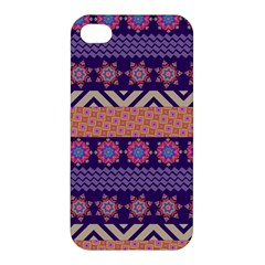 Colorful Winter Pattern Apple Iphone 4/4s Premium Hardshell Case by DanaeStudio