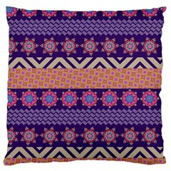 Colorful Winter Pattern Large Cushion Case (two Sides) by DanaeStudio