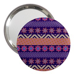 Colorful Winter Pattern 3  Handbag Mirrors by DanaeStudio