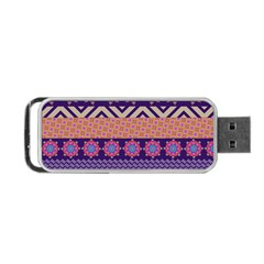 Colorful Winter Pattern Portable Usb Flash (one Side) by DanaeStudio