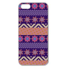 Colorful Winter Pattern Apple Seamless Iphone 5 Case (clear) by DanaeStudio