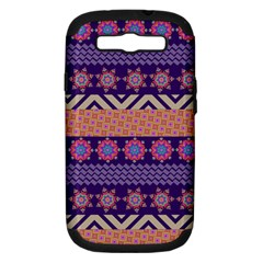 Colorful Winter Pattern Samsung Galaxy S Iii Hardshell Case (pc+silicone) by DanaeStudio